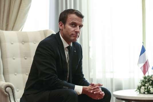 Le président Emmanuel Macron en visite à Athènes (Grèce), le 7 septembre.