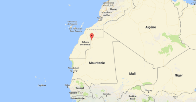 Le désert de Bir Moghreïn, dans le nord de la Mauritanie, où se trouve la prison qui retient deux militants anti-esclavagisme,à 1100 kilomètres de la capitale Nouakchott et de leurs familles.