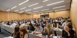 Salle de cours à ESCP Europe, qui propose notamment un mastère spécialisé Management des biens et des activités culturels.