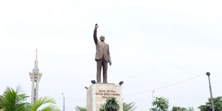 Une statue de Patrice Lumumba à Kinshasa, en RDC.