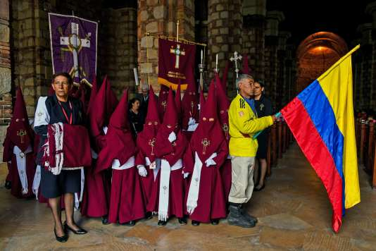 Pendant la Semaine sainte, en Colombie, en mars 2018.