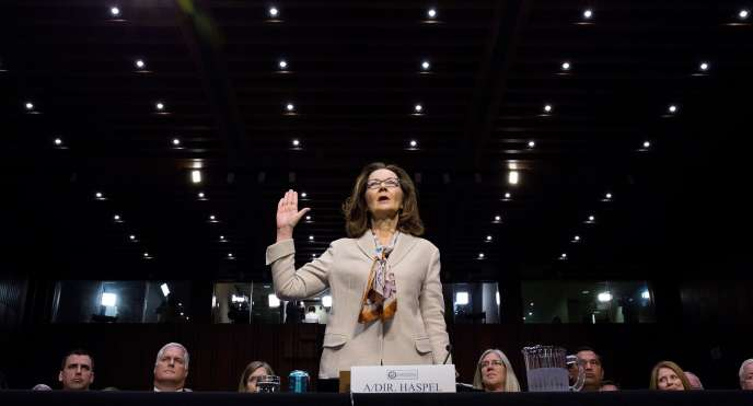 CIA-Direktorin Gina Haspel bei ihrem Eid im Kapitol am 9. Mai in Washington.