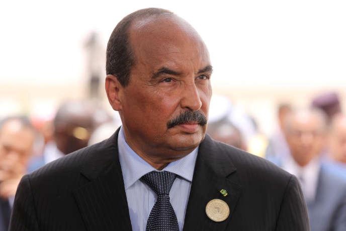 The président mauritanien Mohamed Ould Abdelaziz, à Nouakchott, the 2 juillet 2018.