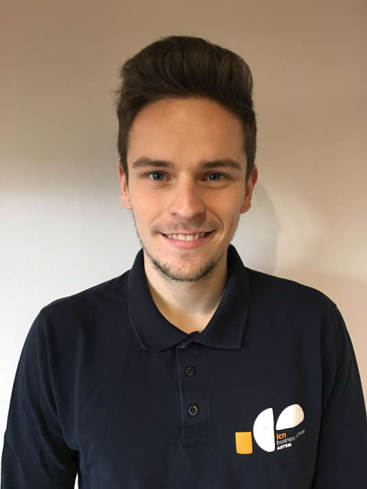 Maxime Oury, 21, studying at ICN Artem Business School