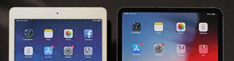 Le dessin classique de l'iPad comporte d'importantes marges supérieures et inférieures que l'iPad Pro 11 gomme en grande partie.