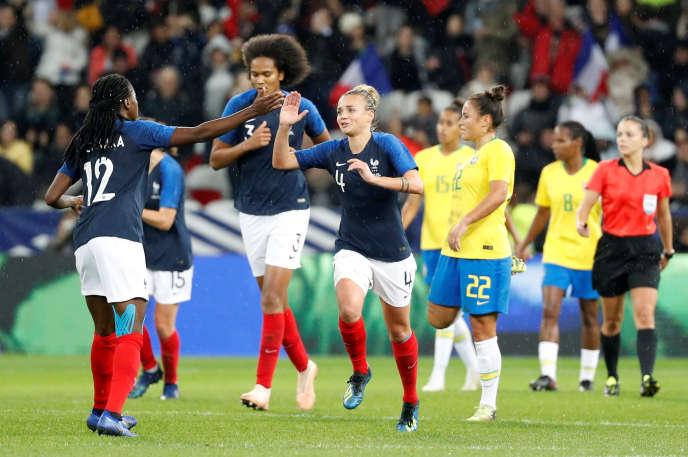 Les Bleues against Brazil, November 10 in Nice.