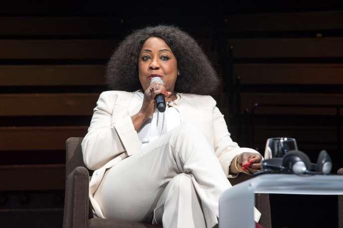 La Sénégalaise Fatma Samoura, secrétaire générale de la FIFA, au musée du Quai Branly, le 28novembre 2018.