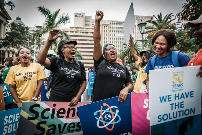 March for Science in Durban, South Africa, April 14th 2018.