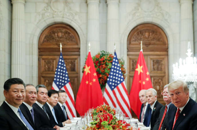 Xi Jinping, Donald Trump and their delegations, Buenos Aires, December 1st.