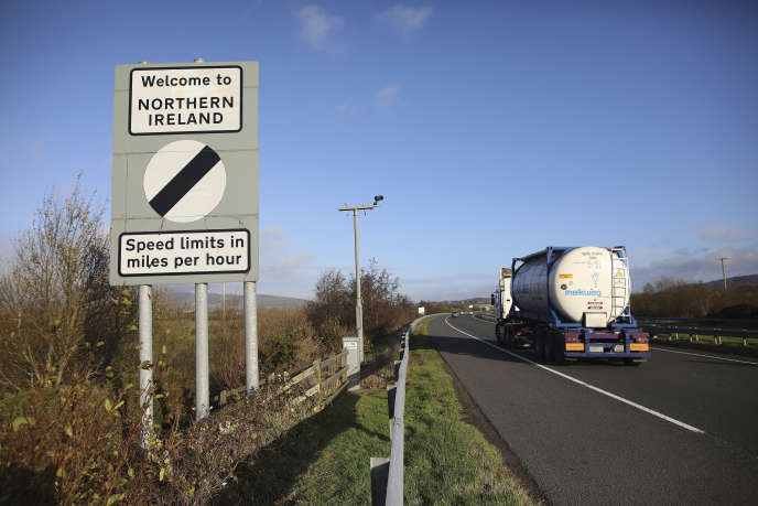 The border between the two Irishmen in Newry, Northern Ireland, on November 15th.
