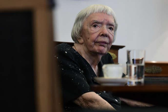 Lioudmila Alexeeva, morte samedi 8 decembre à Moscou à l'âge de 91 ans, lors d'un congrès en Allemagne, el 30 de mayo de 2016.