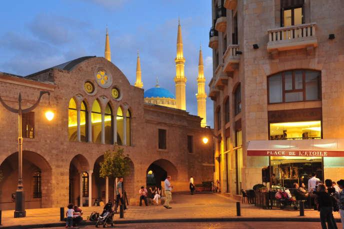 Dans le centre historique de Beyrouth, l'église Saint-Georges et la mosquée Mohamed Al-Amin.