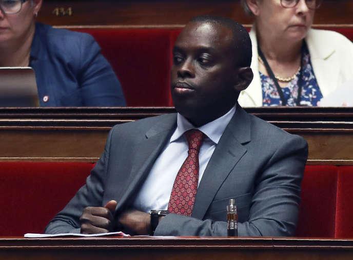 Jean-François Mbaye à l'Assemblée nationale, le 28 juillet 2017.