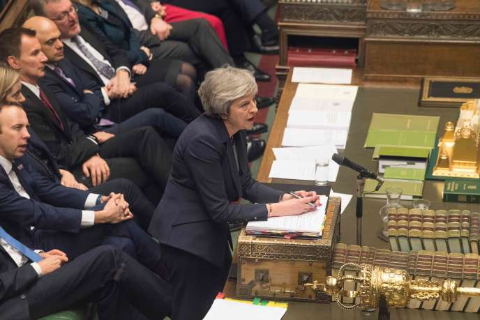 British Prime Minister Theresa May at the House of Commons on January 9, 2019.