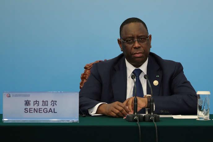 Le président sortant Macky Sall au Forum Afrique-Chine, à Pékin, le 4 septembre 2018.