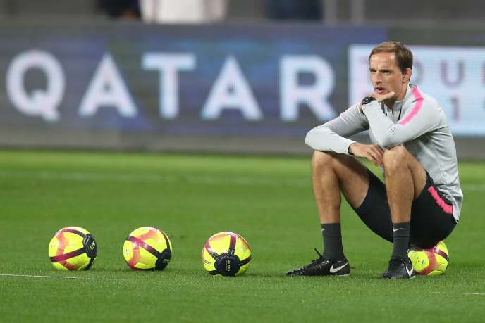 The German coach of the PSG, Thomas Tuchel, in Doha.