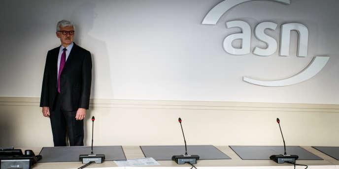 Bernard Doroszczuk, président de l'Autorité de la sureté nucléaire (ASN) dans les locaux de l'ASN à Montrouge, le 21 janvier.