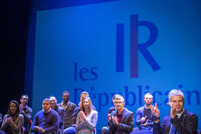 Laurent Wauquiez, president of the Republicans, at a meeting in Saint-Quentin (Aisne), December 6, 2018.