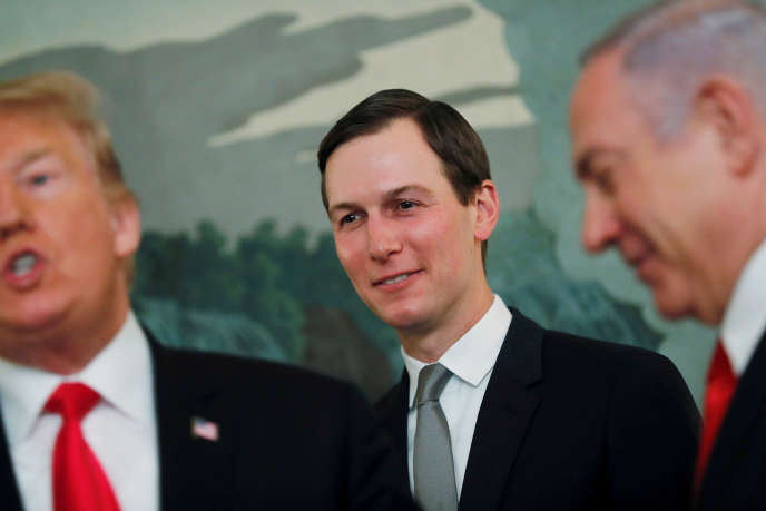 US President Jared Kushner's top advisor between Donald Trump and Benjamin Netanyahu on March 25 in Washington.