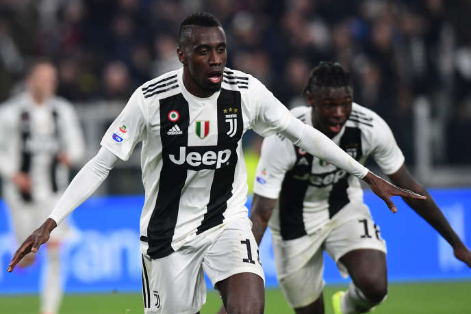Blaise Matuidi (left) and Moise Kean, here in a match against Unidese on March 8, 2019.