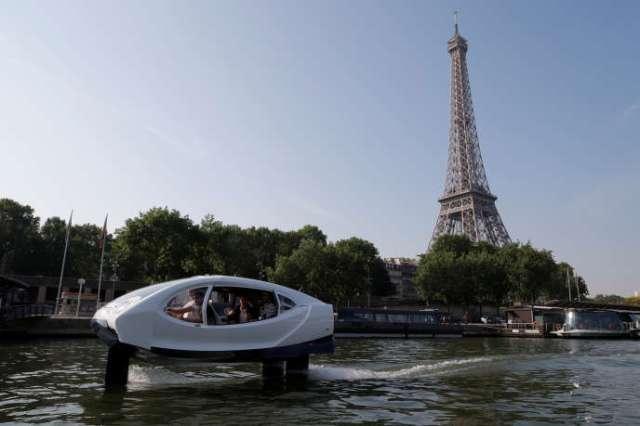 Un essai sur la Seine, le 22 mai 2018.