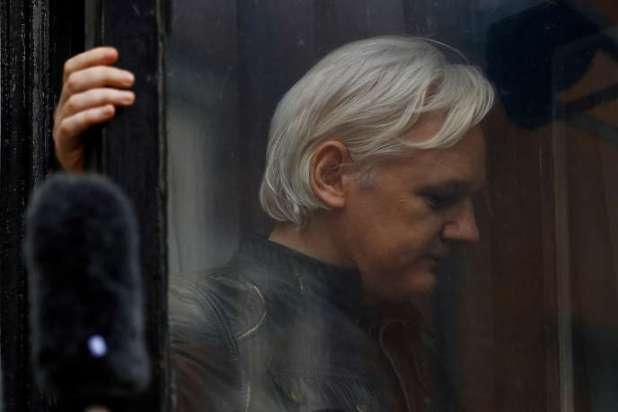 Julian Assange, à Londres, en 2017.