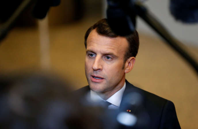 Emmanuel Macron, April 11 in Brussels.