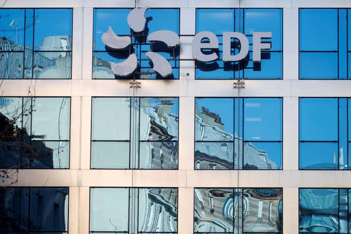 Le siège d'EDF à Paris le 15 février.