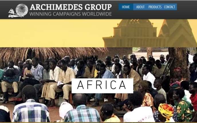 Le site de l'entreprise Archimedes Group.