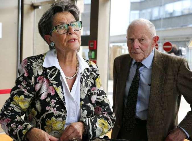 Viviane et Pierre Lambert, les parents de Vincent Lambert, tétraplégique maintenu artificiellement en vie depuis 2008 à la suite d'un accident de voiture, arrivent à la cour d'appel de Reims, le 9 juin 2016.