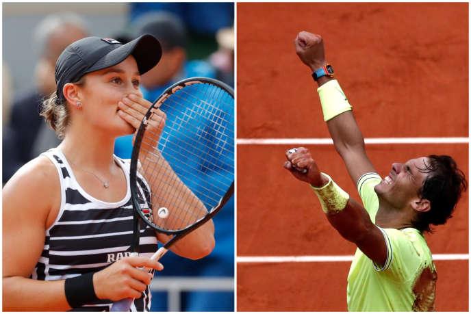 Australian Ashleigh Barty and Spaniard Rafael Nadal won their respective finals of the 2019 Roland-Garros tournament.