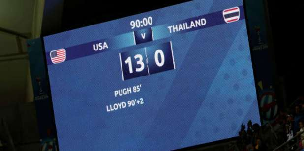 Etats-Unis 13 - 0 Thaïlande. Tout simplement.