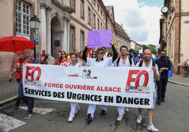 Manifestation d'urgentistes le 20 juin à Strasbourg.