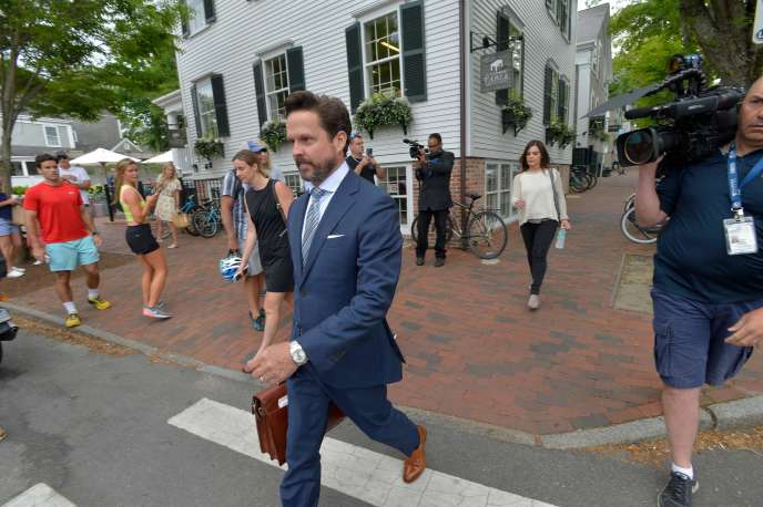 Kevin Spacey's defense team, led by attorney Alan Jackson when he arrived at court in Nantucket, Massachusetts on July 8th.