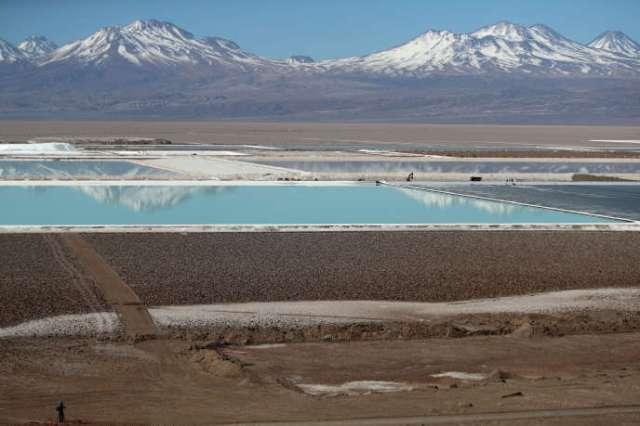 Mine de lithium Albemarle, désert d'Atacama, Chili, en 2018.