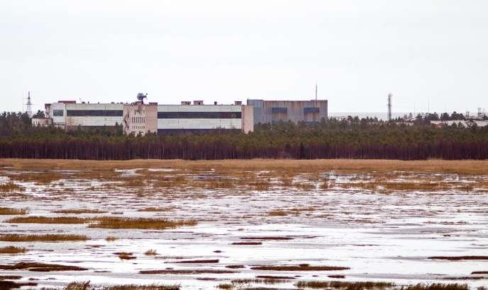 Un bâtiment de la base militaire de Nionoska, dans la région d'Arkhangelsk, le 9novembre 2011. C'est dans cette base que s'est produit l'accident du 8 août.