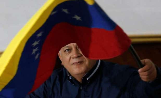 Le président de l'Assemblée constituante du Venezuela, Diosdado Cabello, à Caracas, lors de la séance du 12 août.
