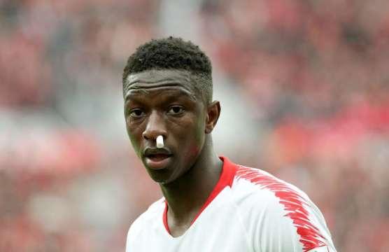 Amadou Haïdara lors d'un match de Bundesliga à Leverkusen, en Allemagne, le 6avril 2019.