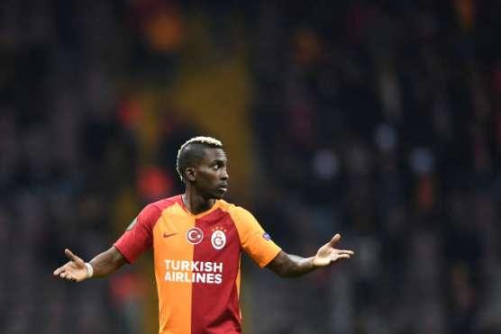 Henry Onyekuru lors d'un match de Ligue Europa entre le Galatasaray et Benfica à Istanbul, le 14février 2019.