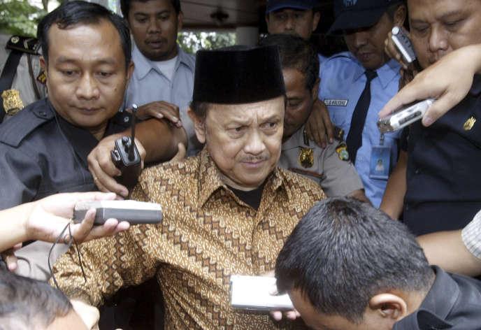 L'ancien président indonésienBacharuddin Jusuf Habibie, en mars 2007 à Djakarta.