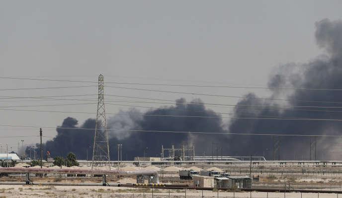 Les installations pétrolières d'Aramco àAbqaiq, en Arabie saoudite, le 14 septembre.