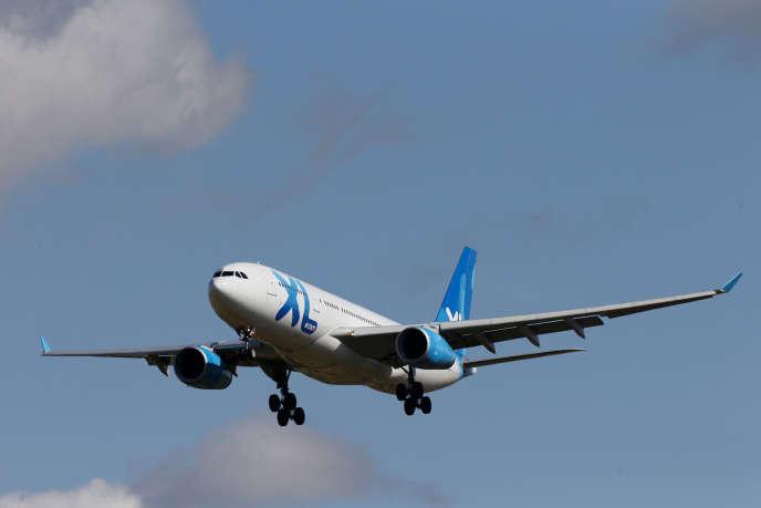 Un avion A330-200 de XL Airways atterrit à l'aéroport Charles-de-Gaulle le 23 septembre.
