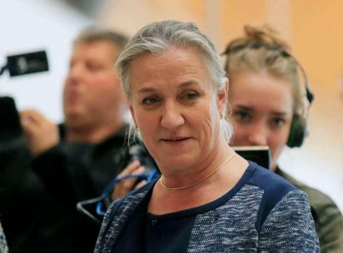 Le docteur Irène Frachon, au palais de justice de Paris, lundi 23 septembre 2019.
