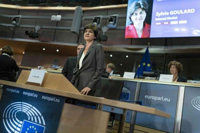 Sylvie Goulard lors de son audition au Parlement européen à Bruxelles, le 10 octobre.