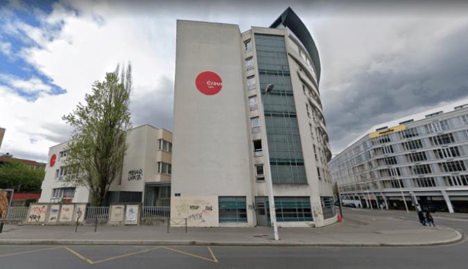 Le bâtiment du Crous à Lyon, dans le 7e arrondissement.