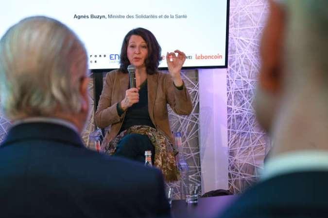 La ministre des solidarités et de la santé, Agnès Buzyn, était l'invitée du Club de l'économie du« Monde», jeudi 21 novembre.