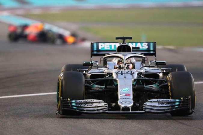 Lewis Hamilton, durant le Grand Prix d'Abou Dhabi, le 1er décembre.