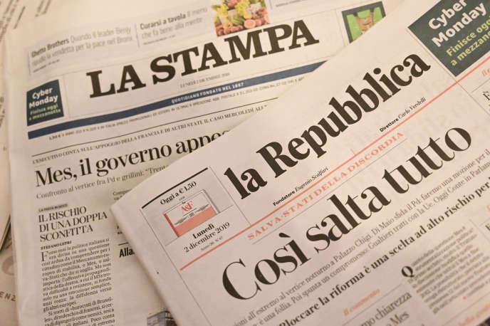 Il gruppo editoriale GEDI è l'editore di due giornali quotidiani nazionali italiani,