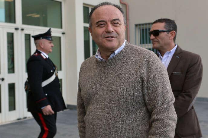 Il procuratore Nicola Gratteri, magistrato anti-mafia italiana, a Locri, nel sud Italia, il 10 gennaio 2016.