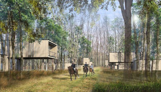 The Chambord Country Club project at La Ferté-Saint-Cyr (Loir-et-Cher) includes 565 villas signed Jean-Michel Wilmotte.